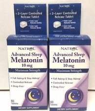 Natrol Melatonin Time Release 10mg Tablets 60ct -2 Pack - Exp. Date 05-2020