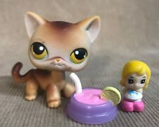 Littlest Pet Shop Short Hair Brown Cat # 19 Lot 100% Authentic! LPS