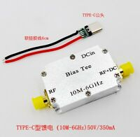 10M-6GHz RF Feed Box  Biaser  Coaxial Feed, RF Block Low Insertion Loss