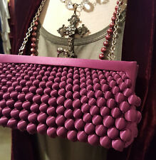 7Sondra Roberts N.Y. Textural Purple Satin Evening Bag