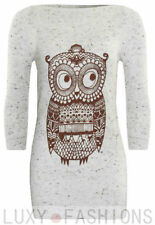 3/4 Sleeve Crew Neck Thin Knit Jumpers & Cardigans for Women