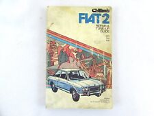 Chiltons Fiat 2 Repair Manual 850 124 128 PB1974 Tune Up Guide
