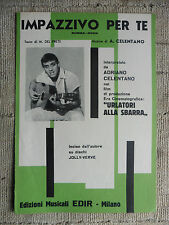 Spartito - Impazzivo per te - Adriano Celentano - film Urlatori alla sbarra 1960