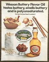 1969 Wesson Buttery Flavor Oil Print Ad Use to Your Hearts Content