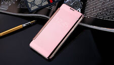 Luxury Slim Mirror Flip Clear View Smart Case Cover for Samsung Galaxy S8 Plus