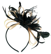 Customised Feather Hair Fascinator Headband Wedding Royal Ascot Races Bespoke