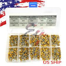 10 Types x 50 10pF~680pF (100~681) Monolithic Ceramic Capacitor Assorted kit box