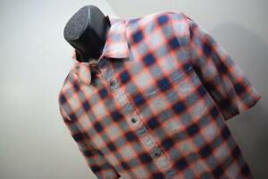 North Face Camp Shirt Plaid Short Sleeve Button Up Hiking Outdoors Mens Size XL