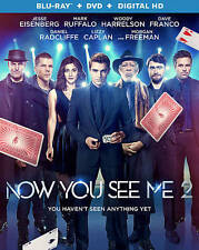 Now You See Me 2 (Blu-ray 2016, NO DVD/DIGITAL )  FREE SHIPPING !!!!!