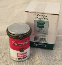New ListingMidwest of Cannon Falls Porcelain Hinged Campbells Chicken Soup Trinket Box -Nos