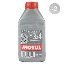Motul DOT 3 & 4 Brake Fluid Fully Synthetic 2 x 500ml 1L