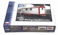 SDV 208 Bauwagen Metrostav Kunststoff Modellbausatz 1:87 H0
