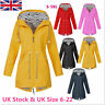 Women Ladies Raincoat Wind Waterproof Jacket Hooded Rain Mac Outdoor Poncho UK