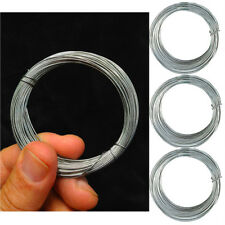3 Galvanised Wire Cable Clamp DIY Garden Fencing Climbing Plant Reel Rope Tools