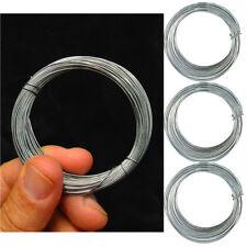 3 Galvanised Wire Cable Garden Gardening Metal Reel 12M DIY Reels Rope Home Tool