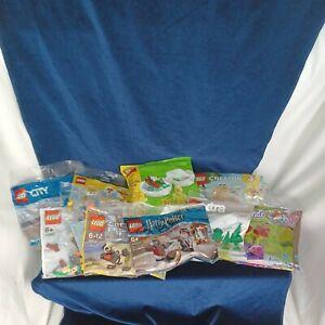 Assorted  Bundle / Joblot of 9x Collectors Lego Polybags - Harry Potter, City+