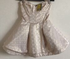 BNWT! Gold by Giles Deacon New Look Mini Cocktail Corset Dress Dress Size 8