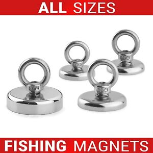 Neodymium Fishing Recovery Magnets Very Strong Pull Force 20kg up to 400kg
