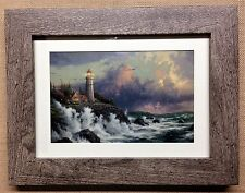 """Thomas Kinkade Framed Open Edition print """"CONQUERING THE STORMS"""" - NEW"""