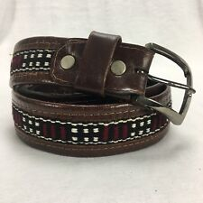 Men's Leather Belt with Wool Insert 43""