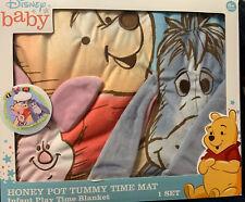 Winnie the Pooh Honey Pot Tummy Time Mat, Infant Play Time Blanket Eeyore New