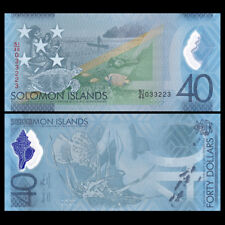 Salomonen / Solomon Islands 40 Dollars, 2018, Polymer, COMM. , Turtle, UNC