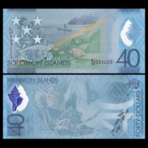 Salomonen / Solomon Islands 40 Dollars, 2018, Polymer, COMM., Banknote, UNC