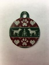 """Christmas Tree Winter Themed Pet Charm Dog Tag for Your Pet, Green 1.25"""""""