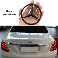 Mercedes Ersatz Kofferraum hinten Stern Abzeichen 80mm Emblem W204 Matt-schwarz