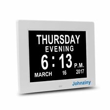 Johnziny Digital Calendar Day Clock- 8 Alarms,Dementia,Alzheimer,Memory Loss,...