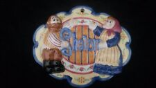 Lotus International Inc Judaica Shalom Plaque Man and Lady Couple New In Box
