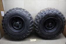 09-14 Honda Rancher 420 Oem Rear Back Wheels Rims W 24x11-40 Maxxis Tires