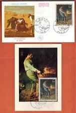 1971 - France - Fdc Cp+Enveloppe-F.Millet-Art-Tableaux-Obl.Paris -Timbre-Yt.1672