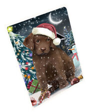 Christmas Chesapeake Bay Retrievers Dog Tempered Cutting Board Db1171