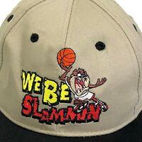 Looney Tunes 90s Taz We Be Slammin Snapback Hat Tasmanian Devil Warner Bros Cap