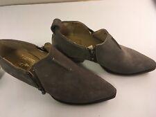 Frye 78002 Sacha Moto Shootie Womens Boots Dark Grey Suede Size 7M