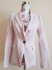 ZARA SET Anzug Blazer Hose Nude Rosa Bundfalte Büro Business Office XS Blogger