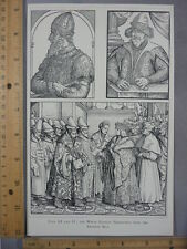 Rare Antique Original VTG Emperor Max White Russian Fed 3 Illustration Art Print