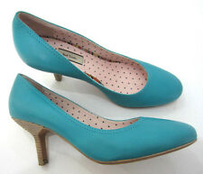 "Paul Smith Court Shoes UK3 EU35 Turquoise SWIRL Interior 2.5"" Heels"