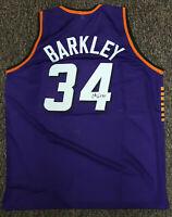 Unworn Autographed Charles Barkley Phoenix Suns # 34 XL NBA Jersey COA