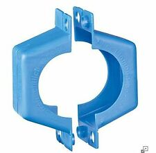 """Plombierschelle 1"""" DN25 Kunststoff-blau Zweiteilig (Set aus 2 Halbschalen)"""