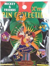 Disney jumbo Pin Japan M&P LE 2800 Mickey & Friends Merry X'mas Ferris wheel
