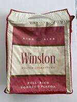Vintage Winston Cigarette Vinyl Tote Bag/Marlboro Insert Estate Item