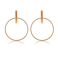 Simple Drop Dangle Earrings with Hoop Square Bar Ear Studs Jewelry Allergy Free