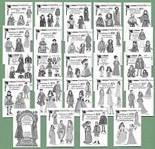 23 Sammlungen Mittelalter Schnittmuster Maßstab 1/6 ~ Modepuppen Gr. 29 / 30 cm