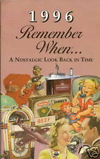 22nd Birthday Remember When Book 1996