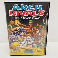 Arch Rivals (Sega Genesis, 1992) Basketball Video Game Cartridge, Case & Manual