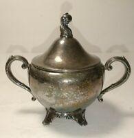 ONEIDA Wm A ROGERS Silver Tea Set Coffee  Creamer and Sugar Vintage USA