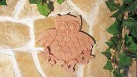 Terracotta Schlüssel Wanddeko Eule Tier Toscana Gartendekoration