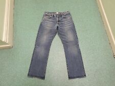 "One True saxon Straight Waist 32"" Leg 32"" Faded Medium Blue Men's Jeans"